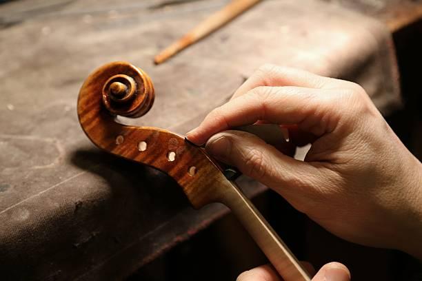 Violin maker working