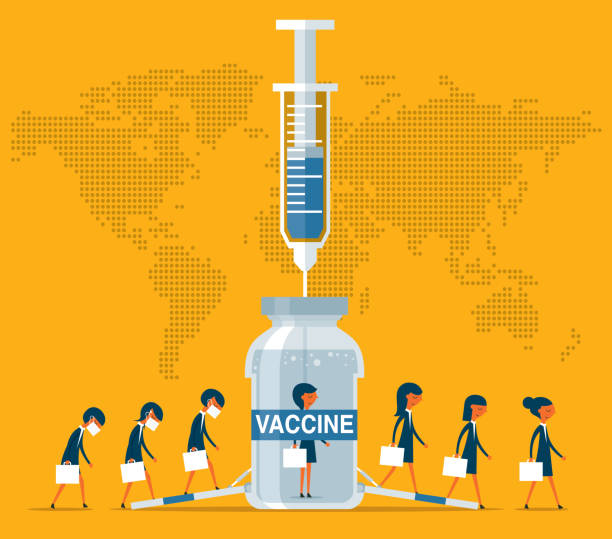 inject vaccine - Businesswoman - Protection